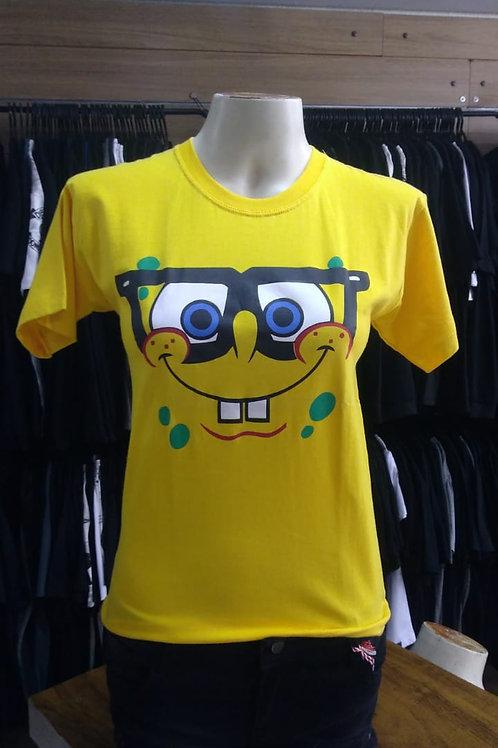 Camiseta Baby Look Bob Esponja BBB01