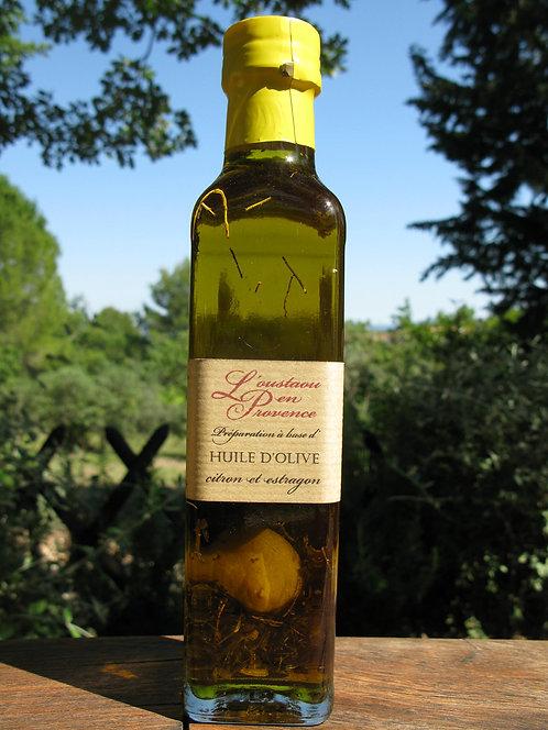 Huile d'olive au citron et à l'estragon 250ml