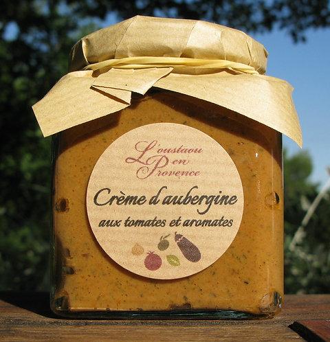 Crème d'aubergine aux tomates et aromates 190g