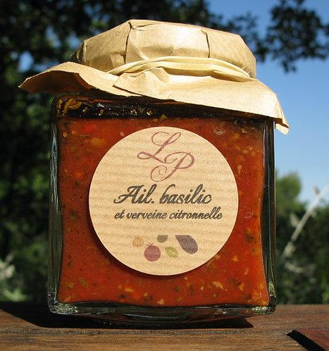 Sauce tomate ail, basilic et verveine citronnelle 200ml