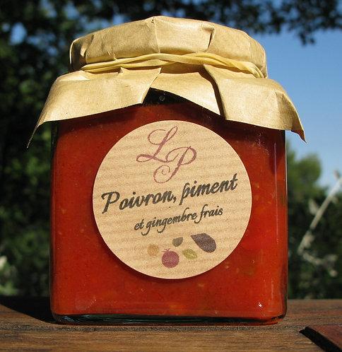 Sauce tomate aux poivrons, piments et gingembre 200g