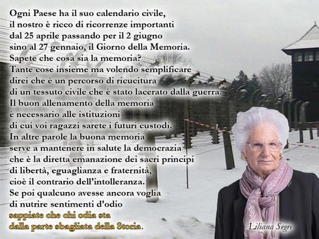 Il messaggio della senatrice Liliana Segre