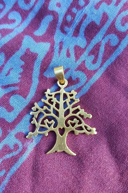 Tree - Gold Indian pendant