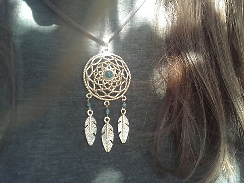 Dreamcatcher - Gold Indian pendant