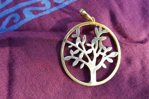 The tree of life- Gold Indian pendant