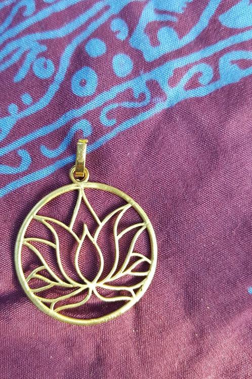 Lotus - Gold Indian pendant