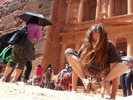 Yoga in Petra, Jordan, April 2015