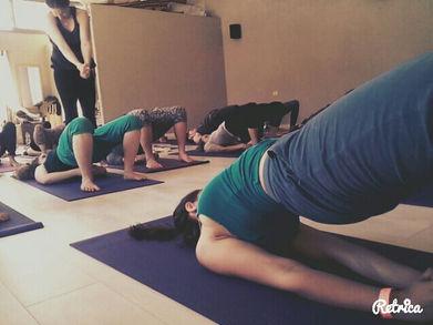 "Yoga Workshop, ""Adama"" Dancers festival, Mitzpe Ramon, Israel"