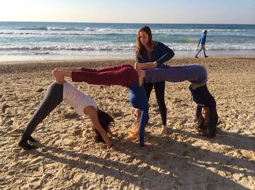 young woman yoga workshop
