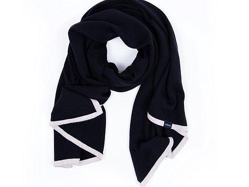Großer Schal Schwarz