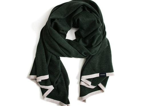 Großer Schal Dunkelgrün