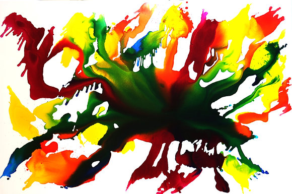 Sebastian - Abstract on White 24x48