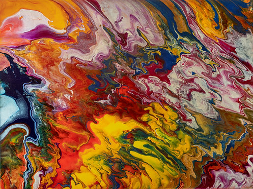 Line Storm - Weather 30 x 40 in
