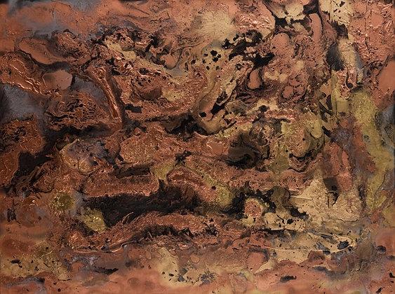 Copper Beach-Metallics 36x48