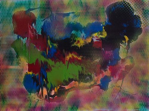 Mossy Grail - Grid 36 x 48 in