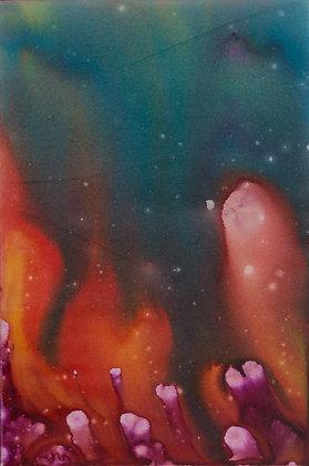 Fire Rain - Meteor shower 24x36