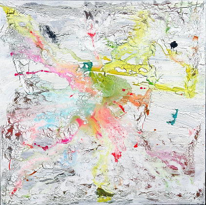 Light Force - Abstract on White - 36x36