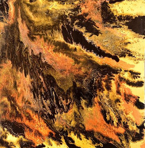 Caveman - Metallics 48 x 48 in