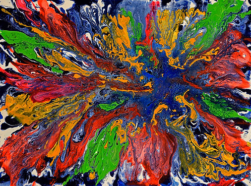 Time of the Seasons - Colorblast 36x48