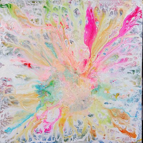 Humble Snowflake-Abstract on White - 36x36