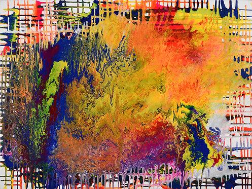 Attitude- Abstract on White - 36x48