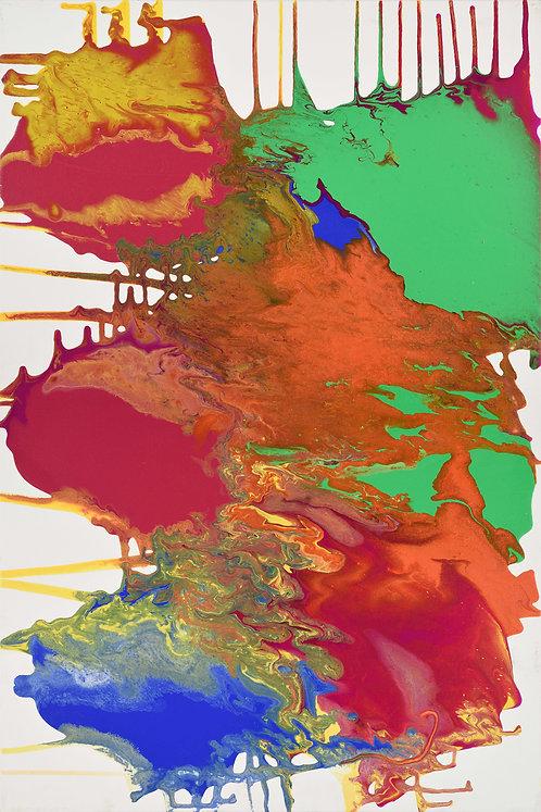 Er Rai - Abstract on White 24x36