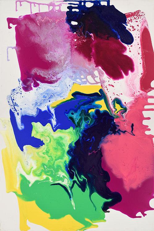 Baten Kaitos - Abstract on White 24x36