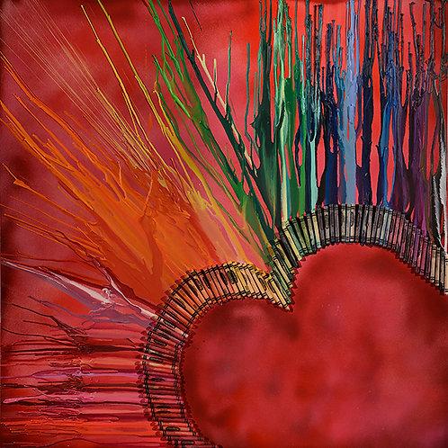 Heartburst - S.F. 36 x 36 in