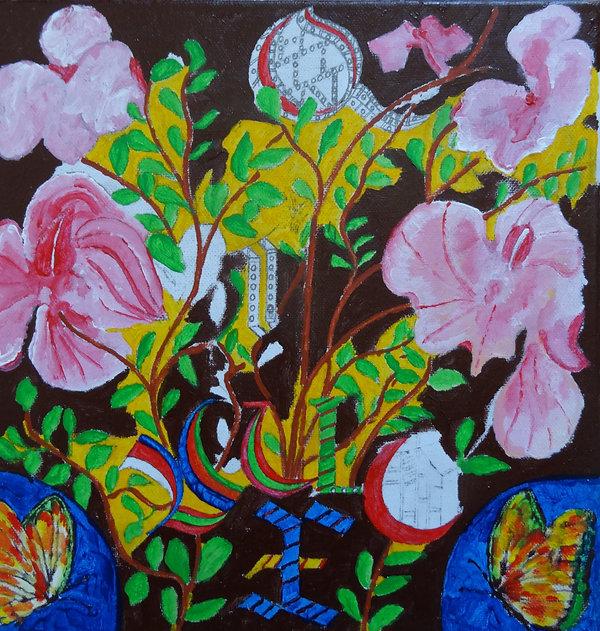bouquet et calligraphies