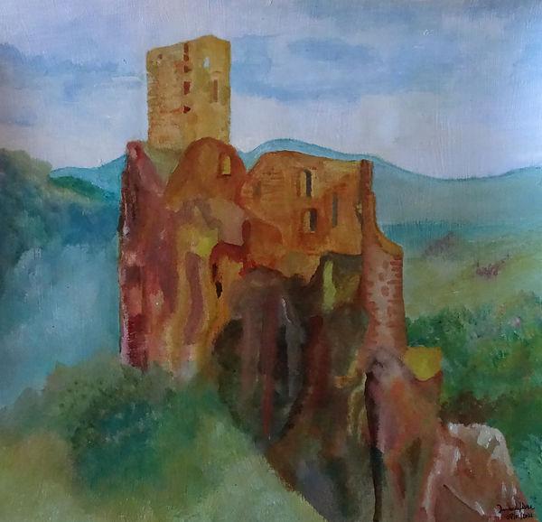 Nostalgia's landscape of a castle sélect