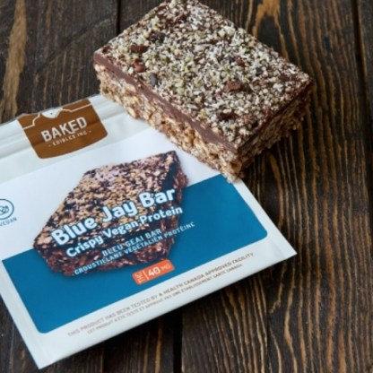 Baked Edibles Inc. Crispy Vegan Protein Blue Jay Bar