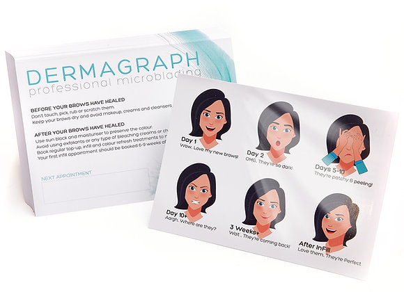 Microblading InFill Appointment Cards (50 Pack)