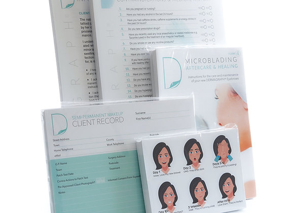 Professional Microblading Documentation Pack (5 x 50 forms)