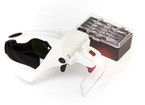 Glasses Type Loupe Magnifier with LED Illumination