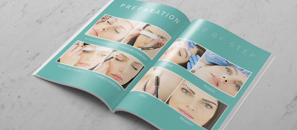 200 page Microblading Instruction Manual