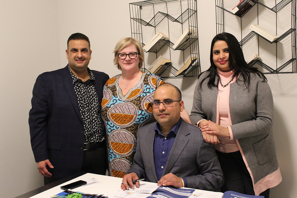 Cancom Team and Yuvraj Verma at EIC Book Signing