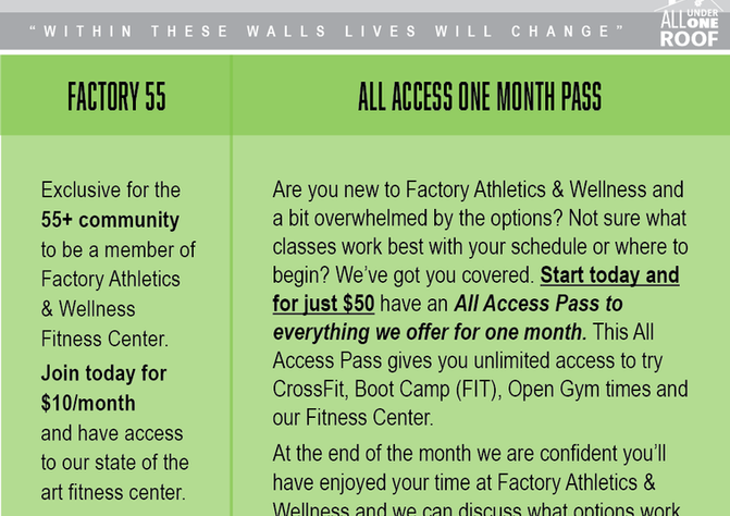 Senior Special / All Access Pass
