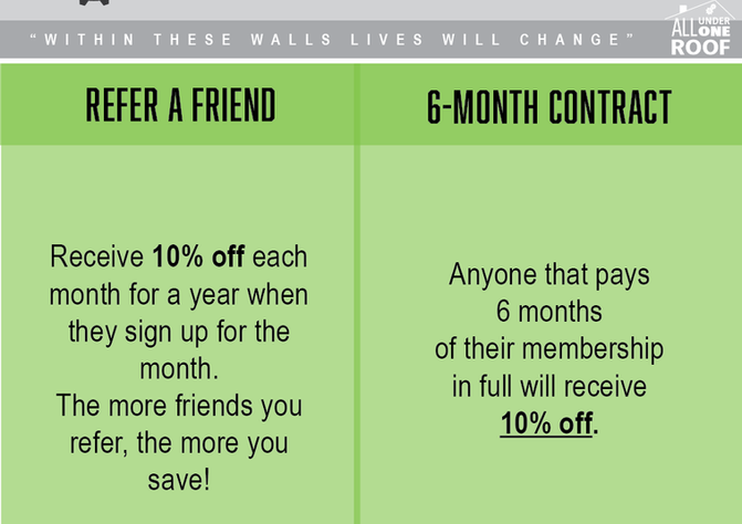 Referral / 6 Month Contract