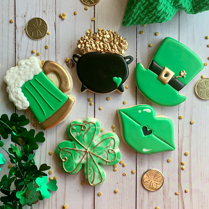 St. Patrick's Day Cookie Decorating Class - Adult BYOB