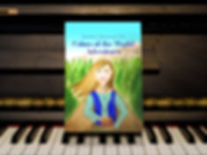 "<img src=""980.jpg"" alt=""a children's book, with a young girl holding a box on the cover, sitting up on piano keys"">"