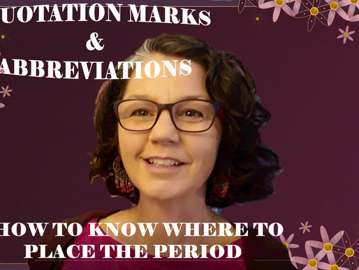 Quotation Marks and Abbreviations: How to Know Where to Place the Period