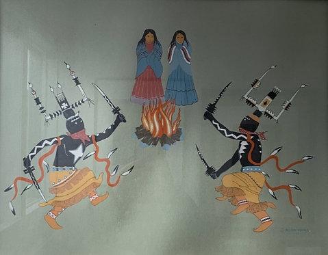 Allan Houser Native American Lithograph Print