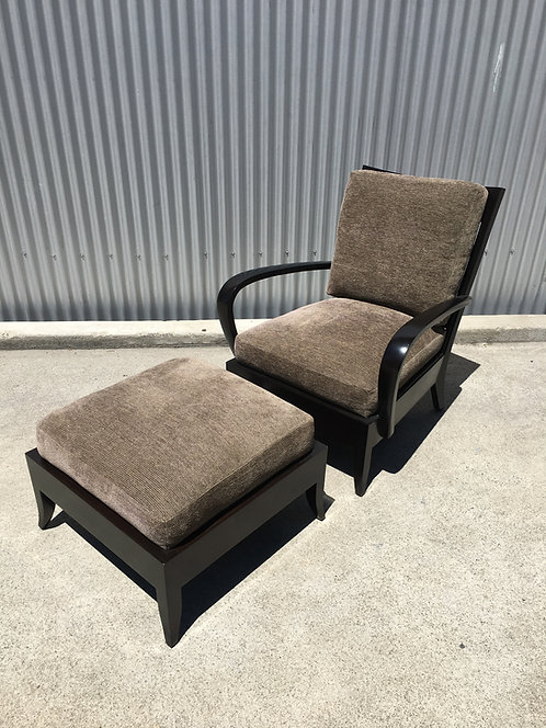 Lounge Chair and Ottoman by Dakota Jackson
