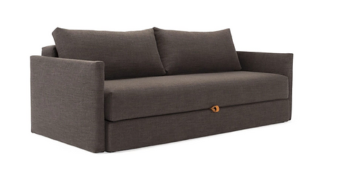 Tripi Sofa Bed w/Arms Sleek Kenya Taupe- Fabric Shown in Stock