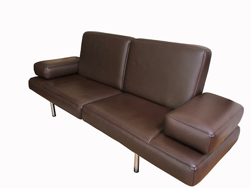 De Sede DS640 Brown Leather Sofa Chaise