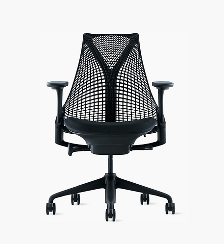 Herman Miller Sayl Task Chair in all black, fully loaded.