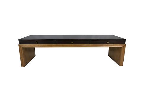 Custom Mahogany Coffee Table w/drawers by Johan Tapp