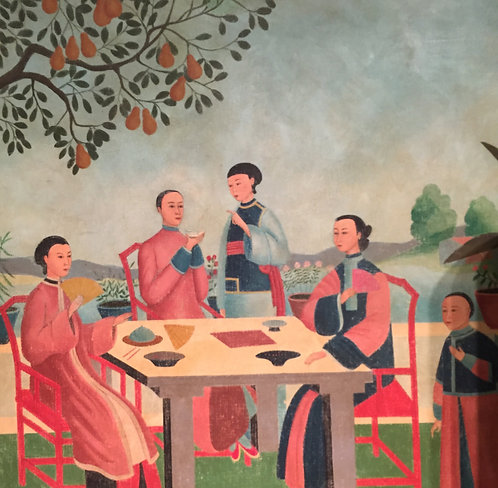 A Family Luncheon Painting