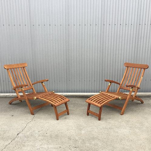 Teak Adirondack Chairs (Pair)