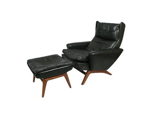 Danish Modern Goerge Thams Chair and Ottman